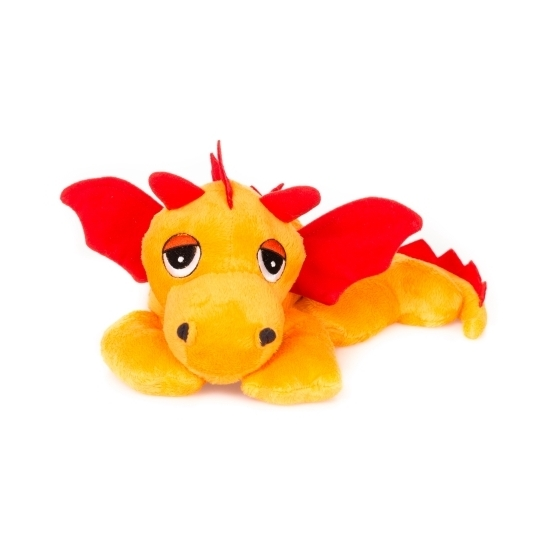 Warme knuffel kruik oranje draak mystiek dier 18 cm