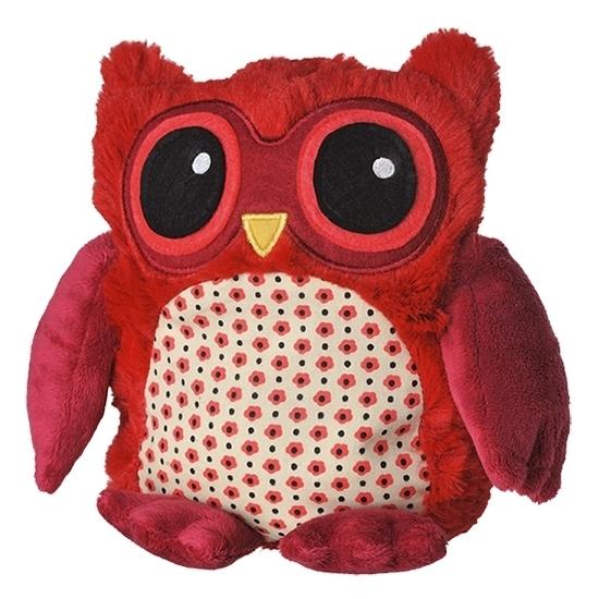 Warme knuffel kruik rode uil