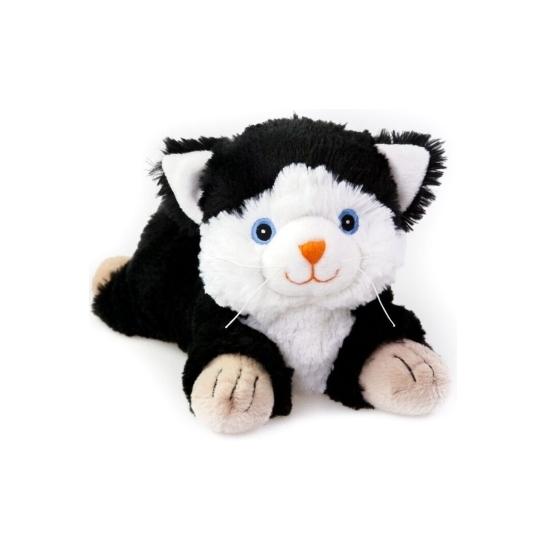 Warme knuffel kruik zwarte kat huisdier 18 cm