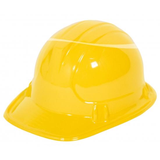 Werkhelm geel