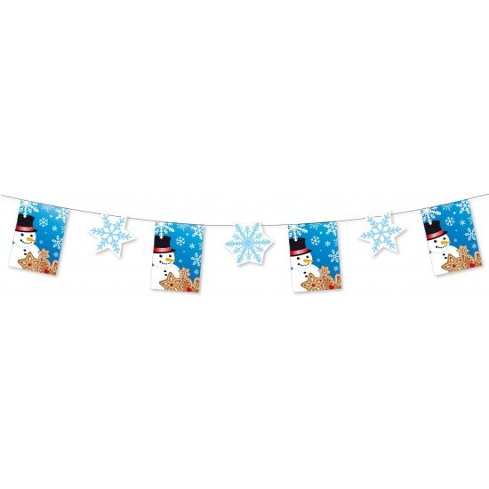 Winter sneeuwvlok slinger 300 cm winkelruit decoratie