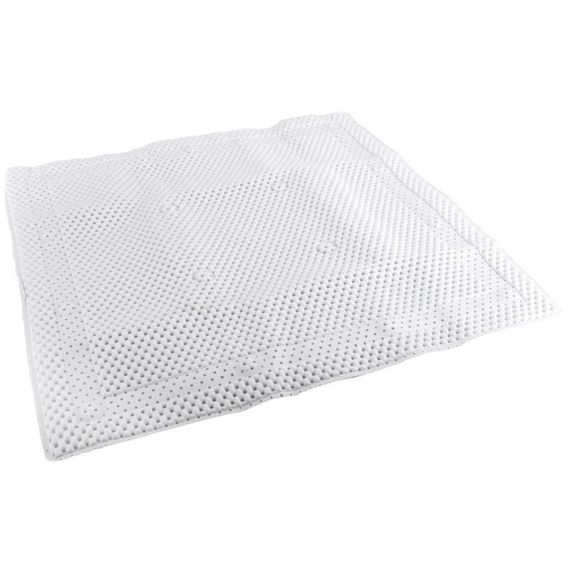 Witte antislip mat voor douchekabine 52 cm