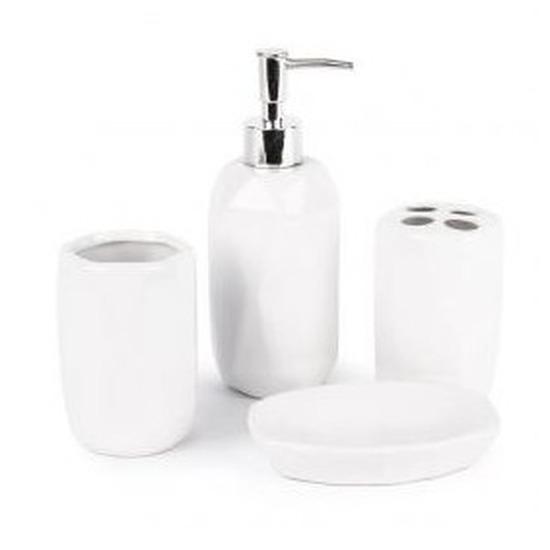 Witte badkamer set 4-delig