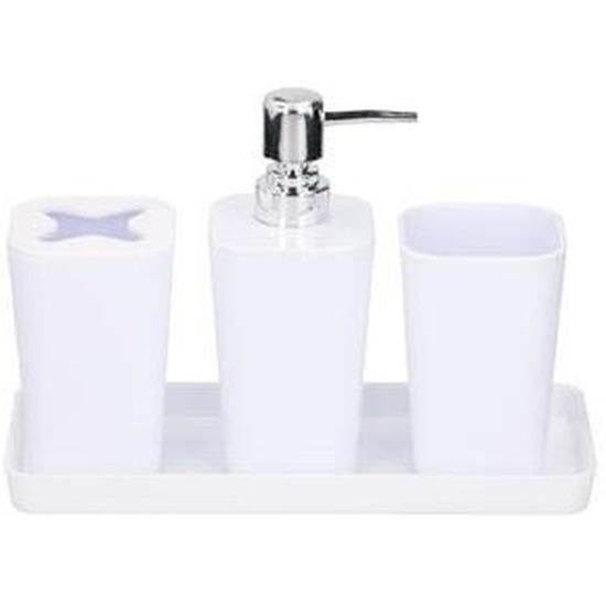 Witte badkamer set 4delig