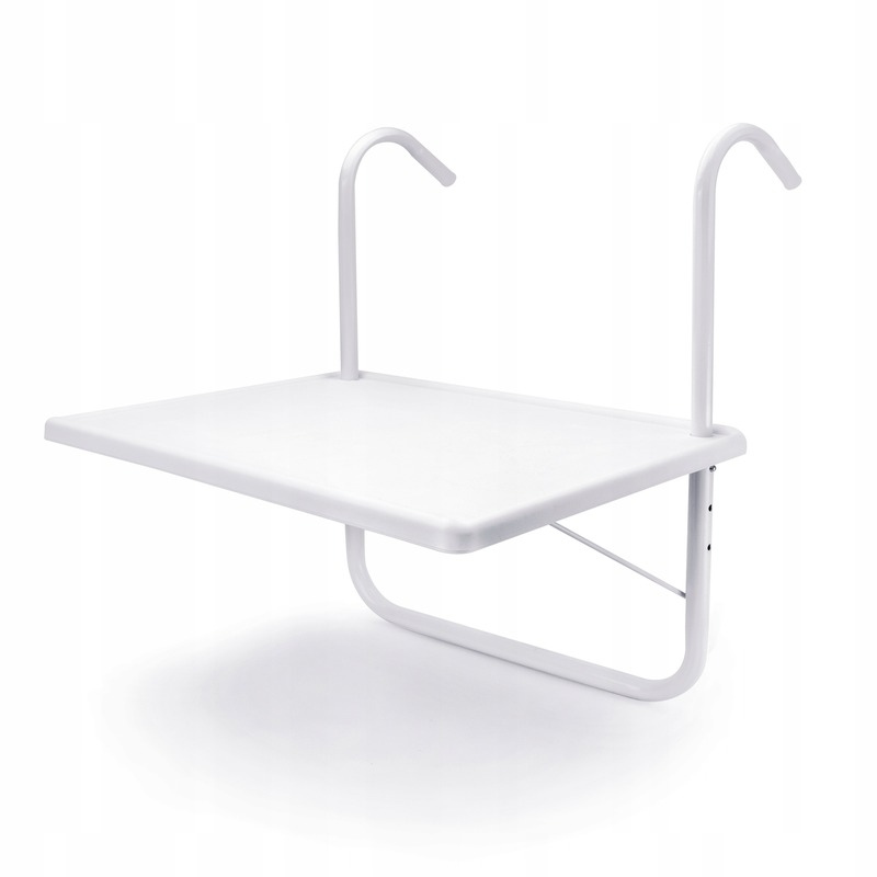 Witte balkontafel 55 x 40 cm