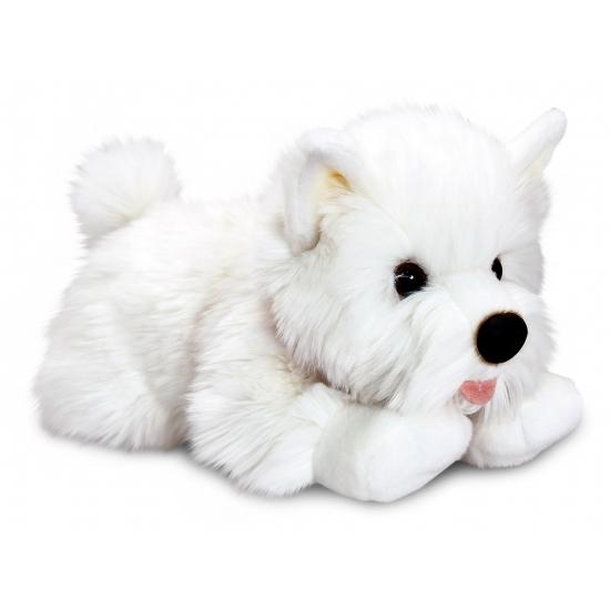 Witte Terrier knuffel hondje 35 cm