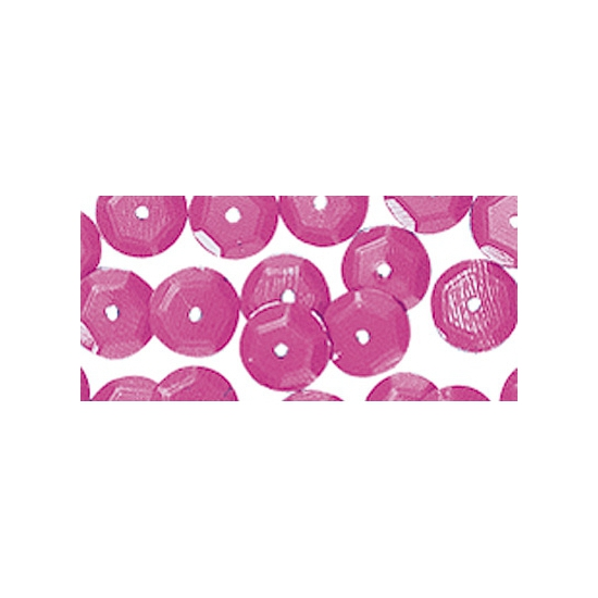 Zakje met roze pailletten 6 mm