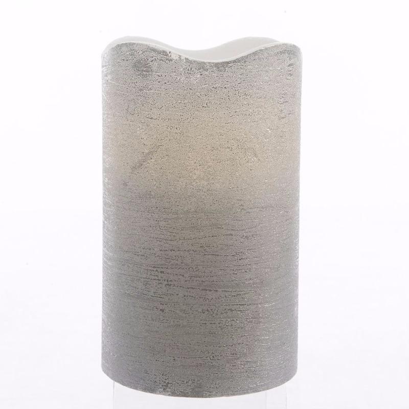 Woonaccessoires Geen Zilveren waskaars warm wit LED 17,5 cm