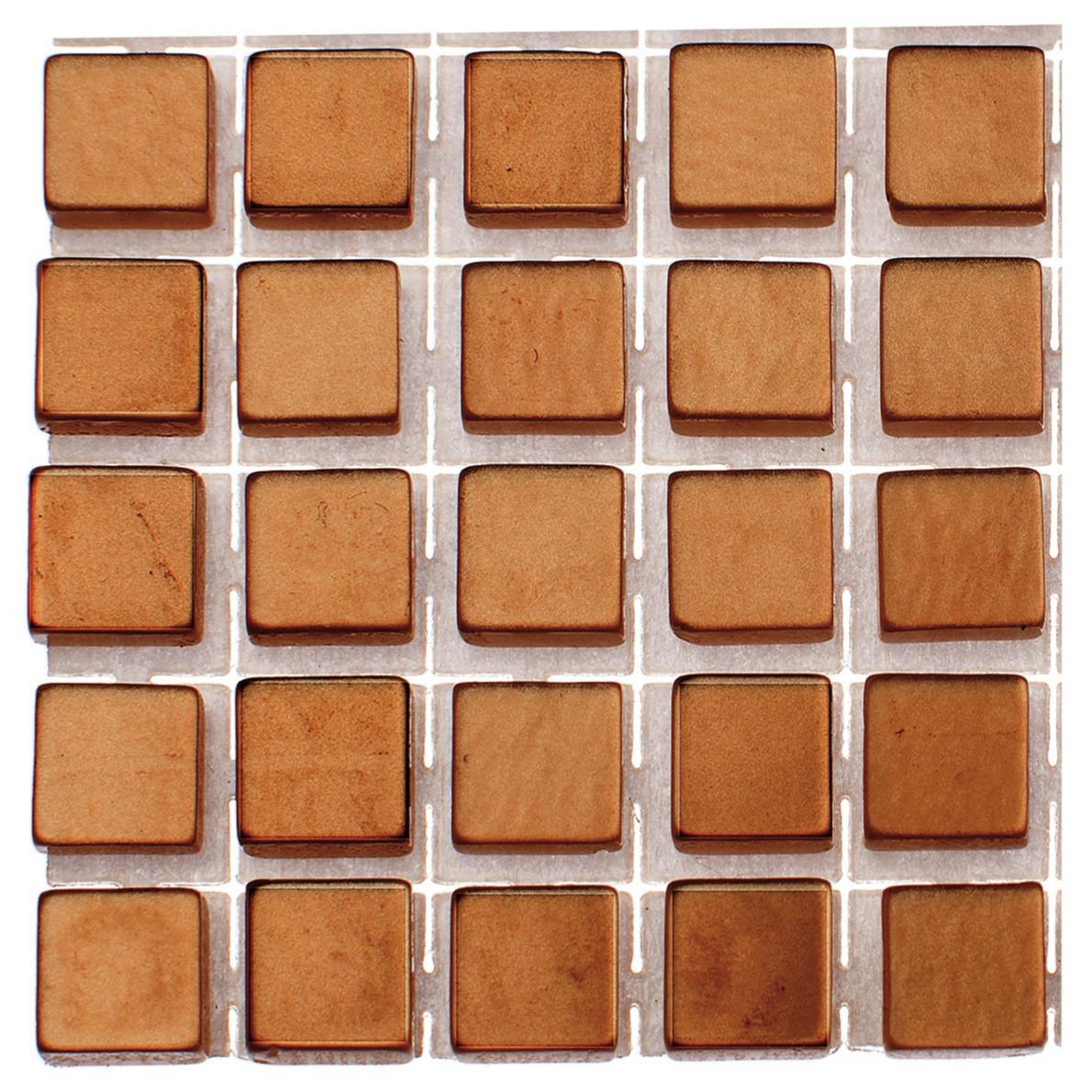 119x stuks mozaieken maken steentjes-tegels kleur brons 5 x 5 x 2 mm