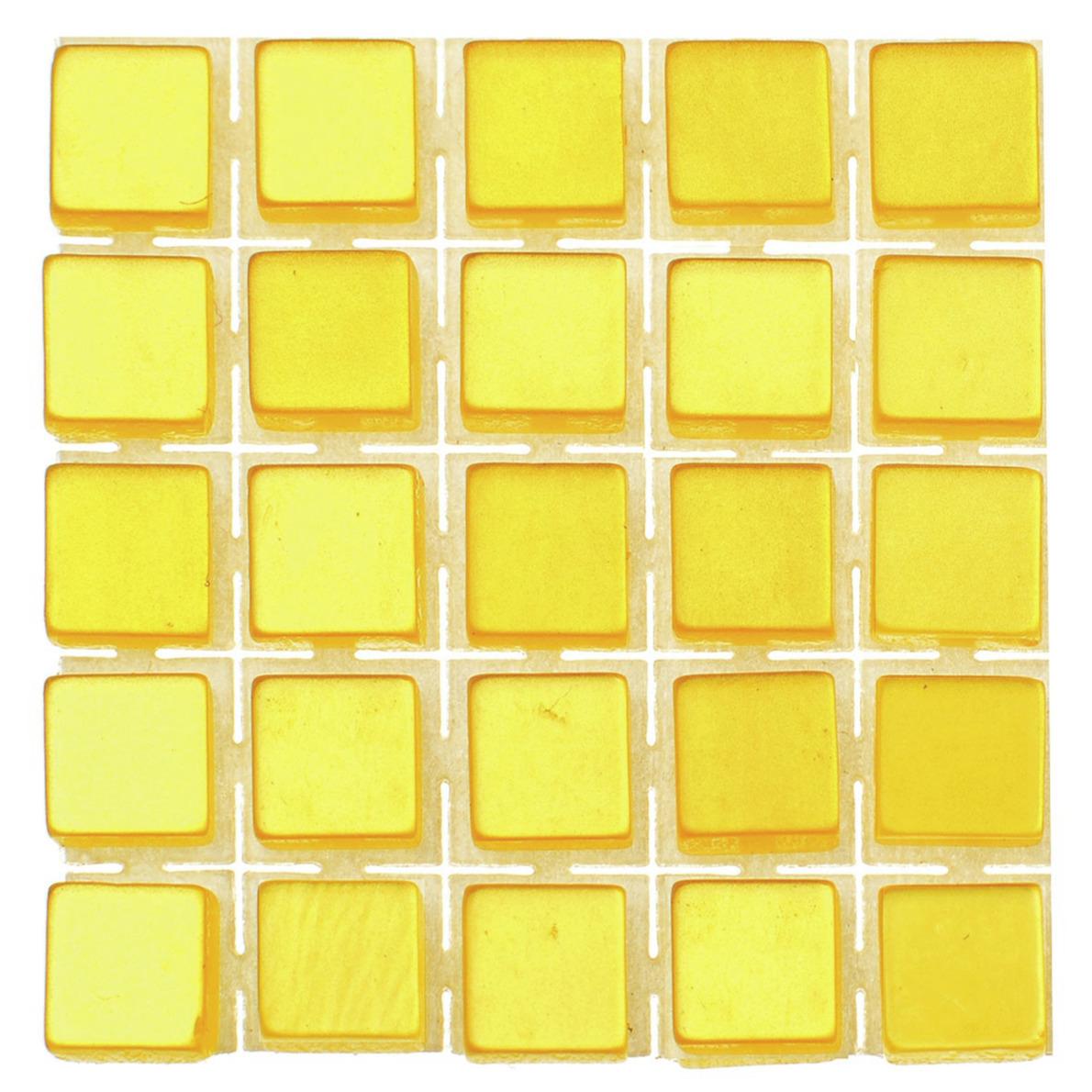 119x stuks mozaieken maken steentjes-tegels kleur geel 5 x 5 x 2 mm