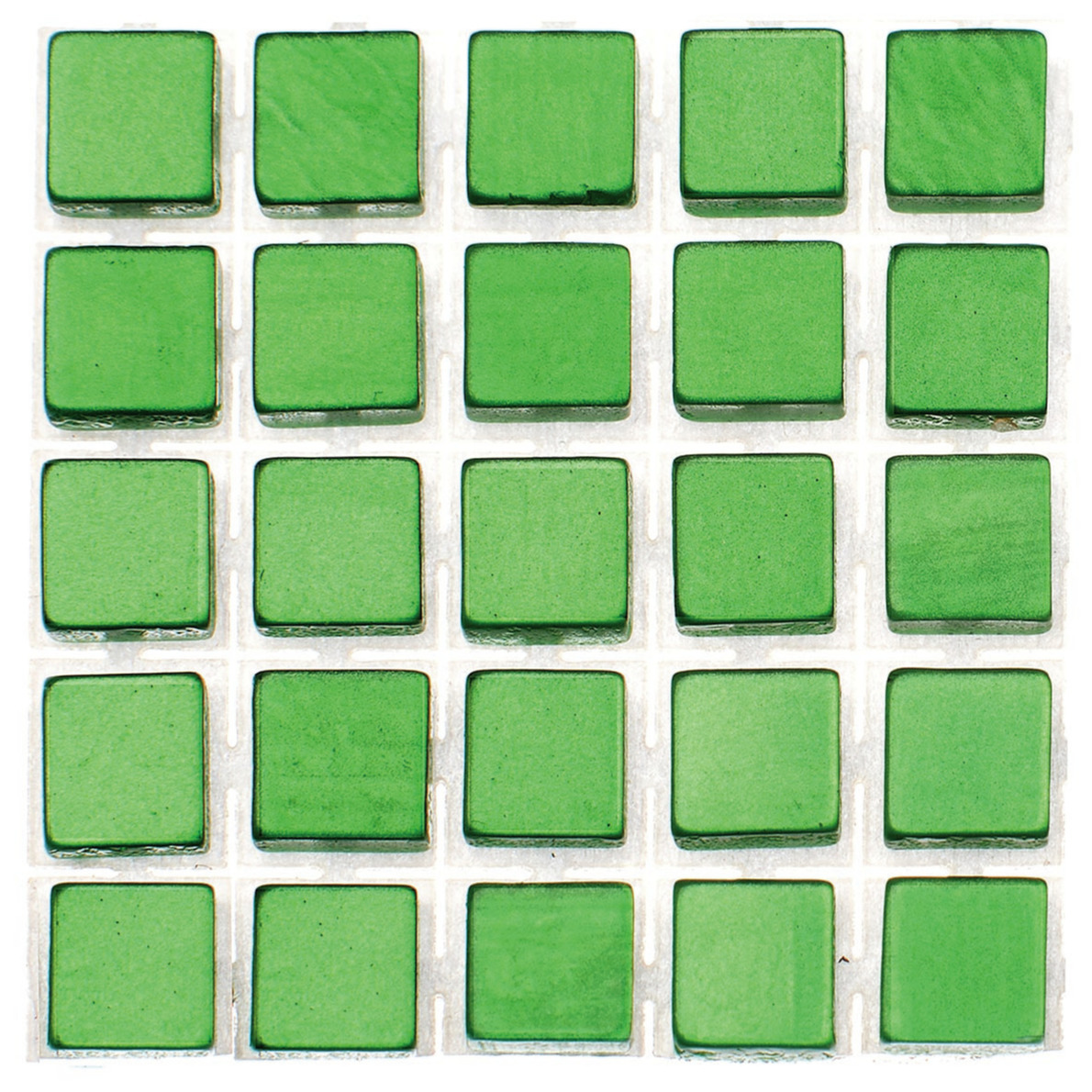 119x stuks mozaieken maken steentjes-tegels kleur groen 5 x 5 x 2 mm