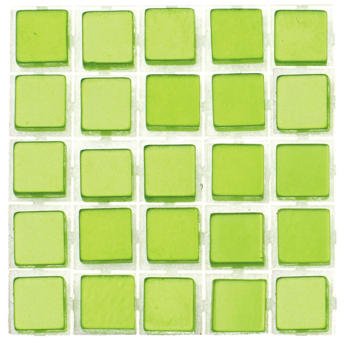 119x stuks mozaieken maken steentjes-tegels kleur lichtgroen 5 x 5 x 2 mm