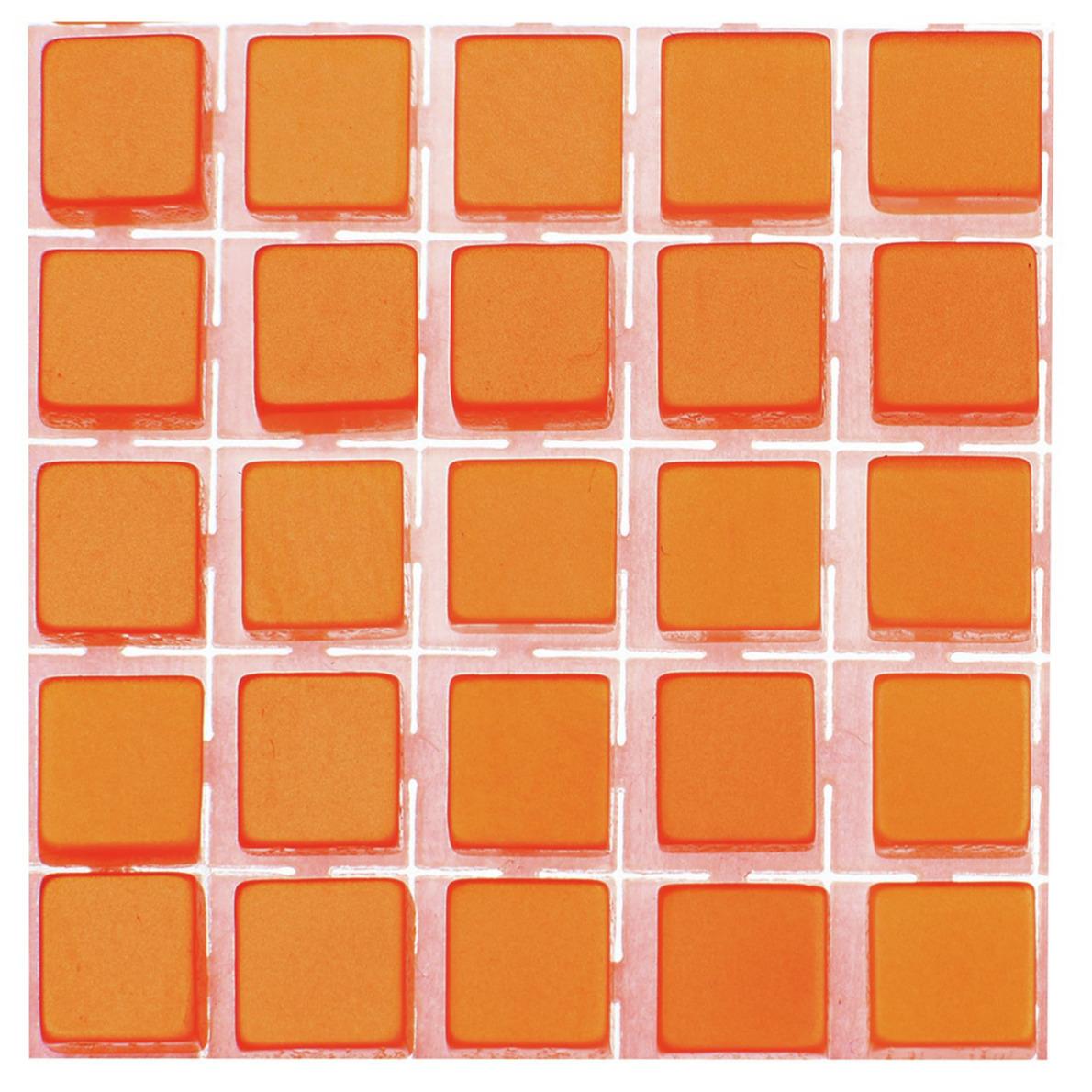 119x stuks mozaieken maken steentjes-tegels kleur oranje 5 x 5 x 2 mm
