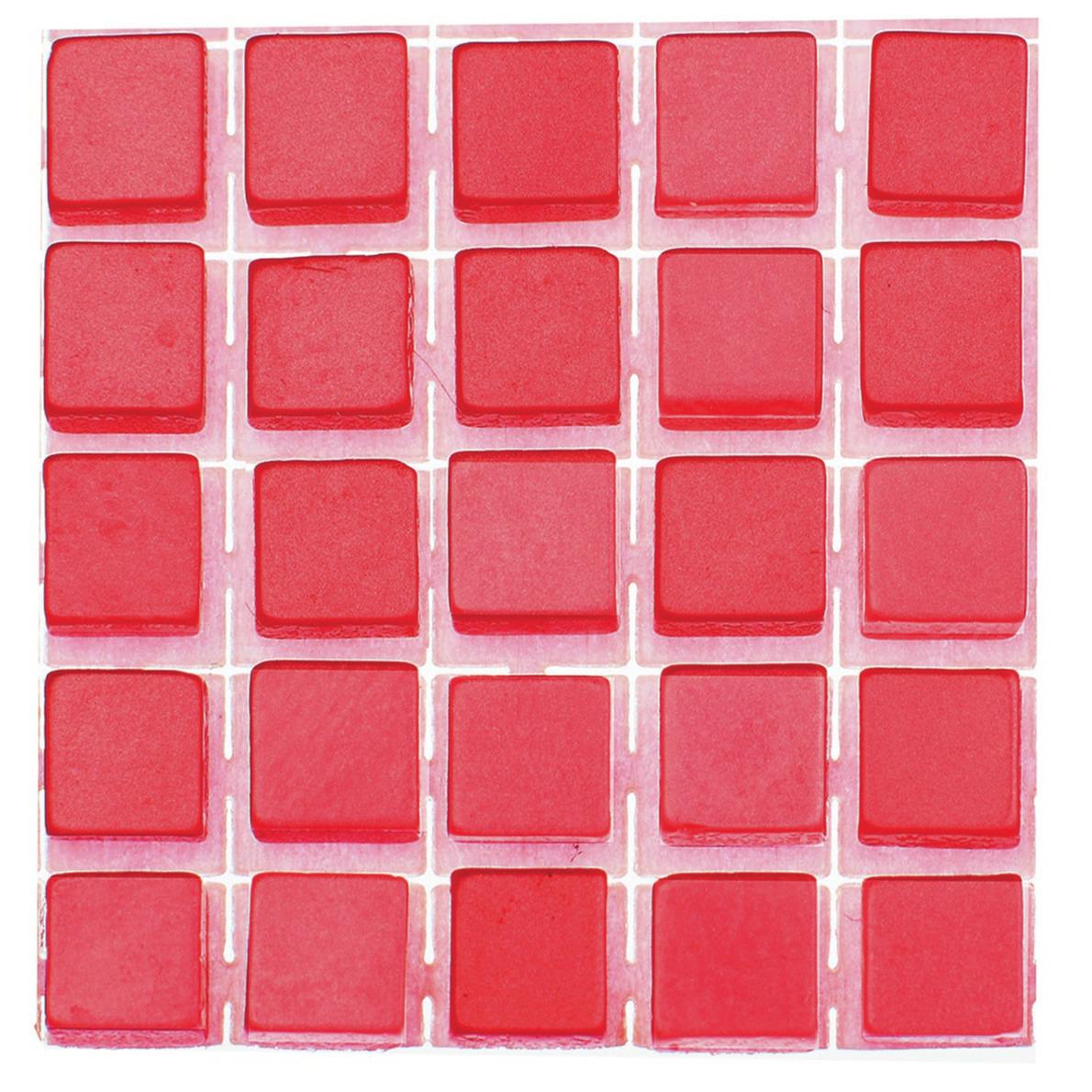 119x stuks mozaieken maken steentjes-tegels kleur rood 5 x 5 x 2 mm