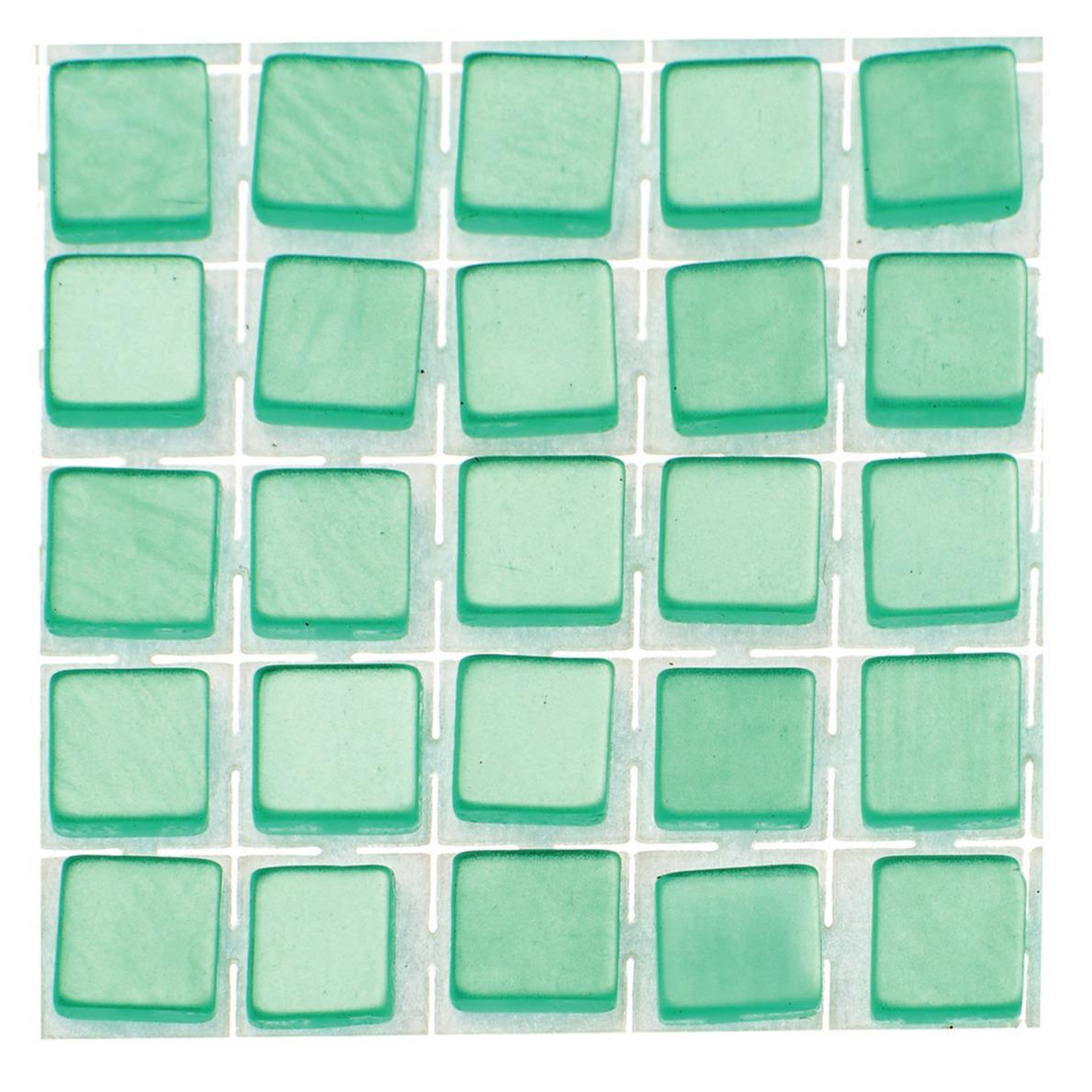 119x stuks mozaieken maken steentjes-tegels kleur turquoise 5 x 5 x 2 mm