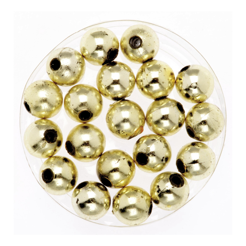 120x stuks sieraden maken glans deco kralen in het goud van 10 mm