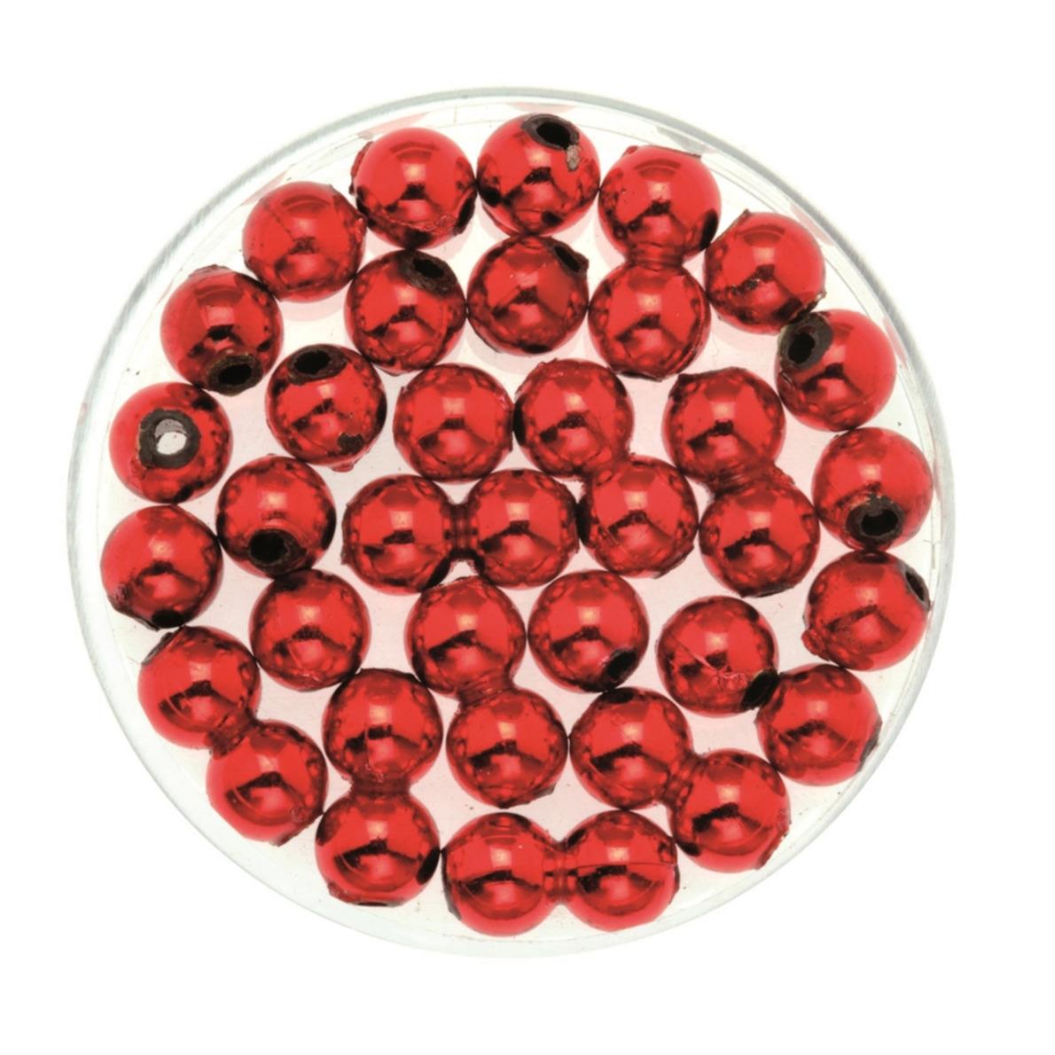 120x stuks sieraden maken glans deco kralen in het rood van 8 mm