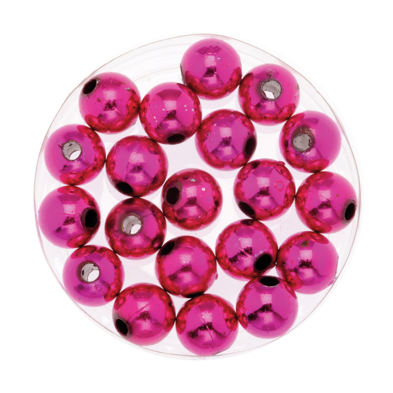 120x stuks sieraden maken glans deco kralen in het roze van 10 mm