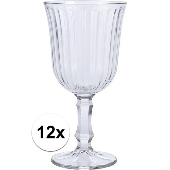 12x Wijn glazen 180 ml