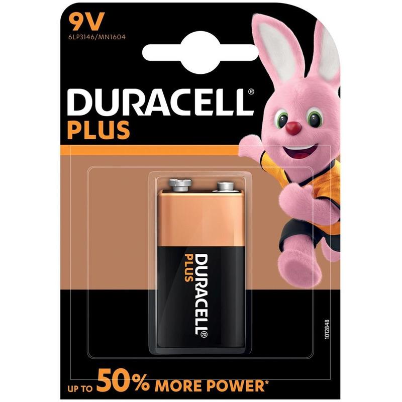 1x Duracell V9 Plus batterij alkaline LR61 9 V