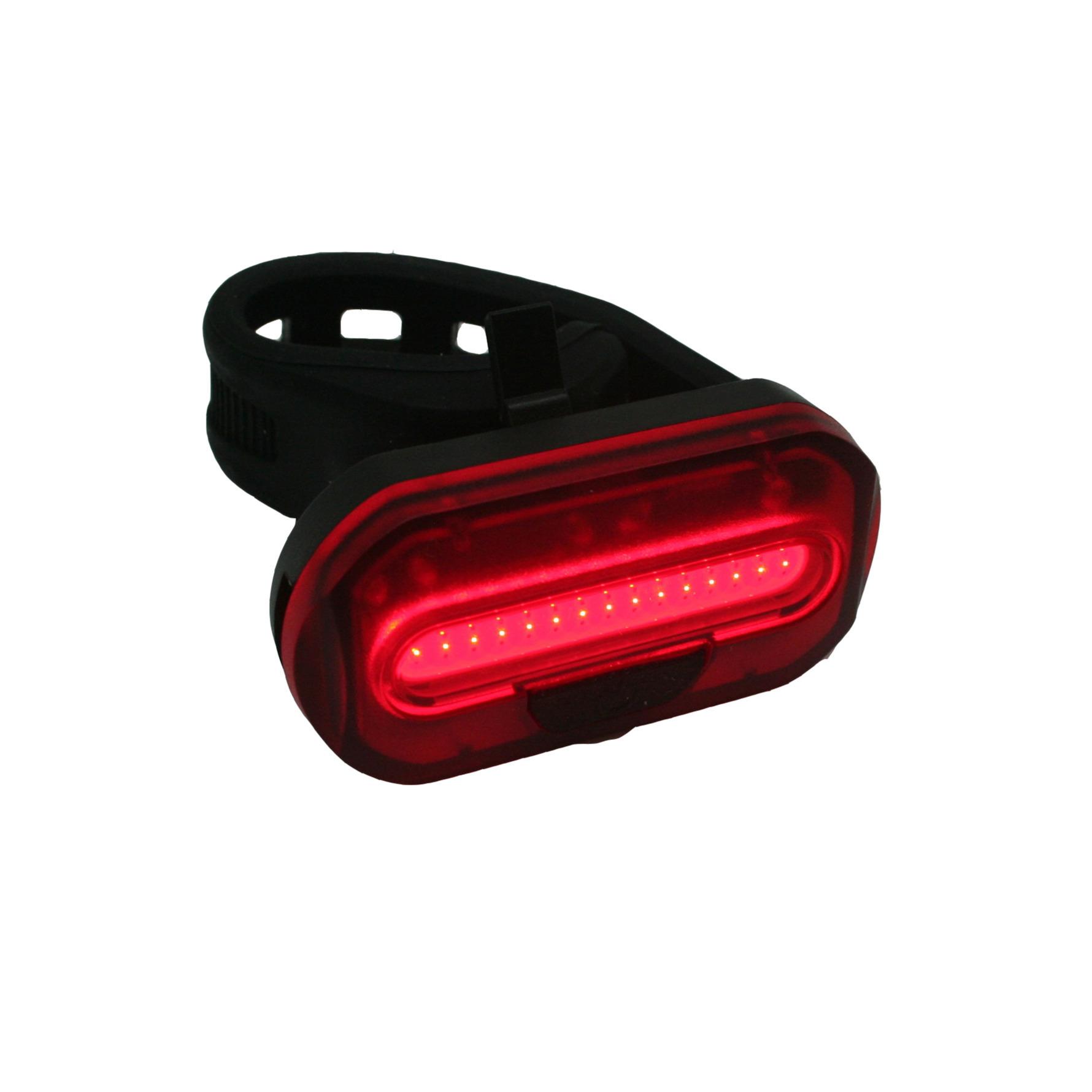 1x Fietsachterlicht-achterlamp fietsverlichting COB LED met bevestigingsband