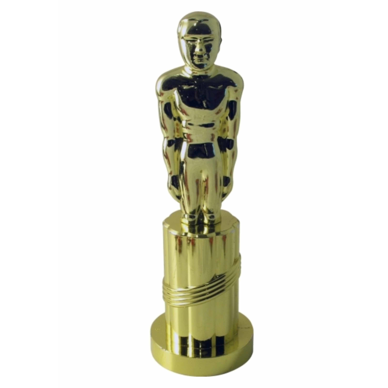1x Gouden award beeldje 24 cm feestartikelen