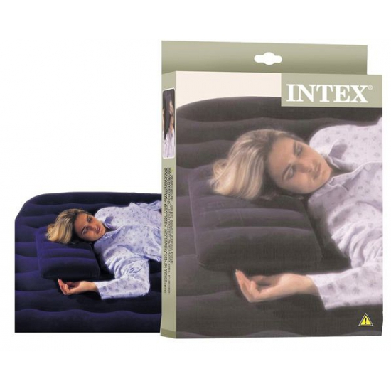 1x Intex opblaasbare reiskussens 43 x 28 cm
