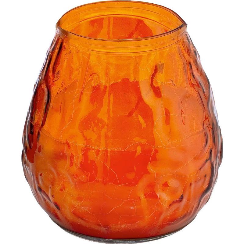 1x Oranje windlicht kaars 48 branduren