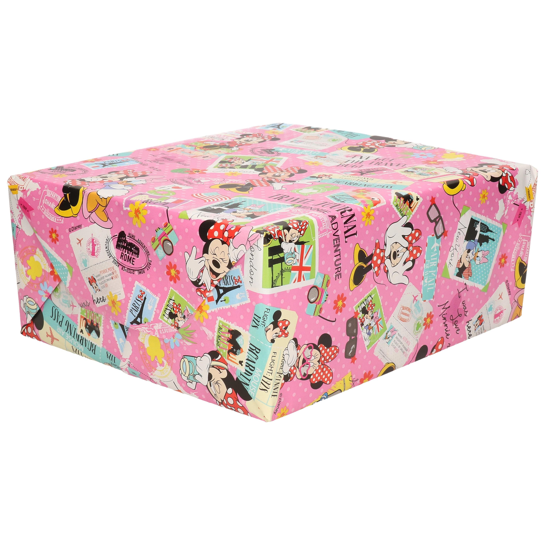 1x Rollen inpakpapier-cadeaupapier Disney Minnie Mouse-Katrien Duck 200x70 cm