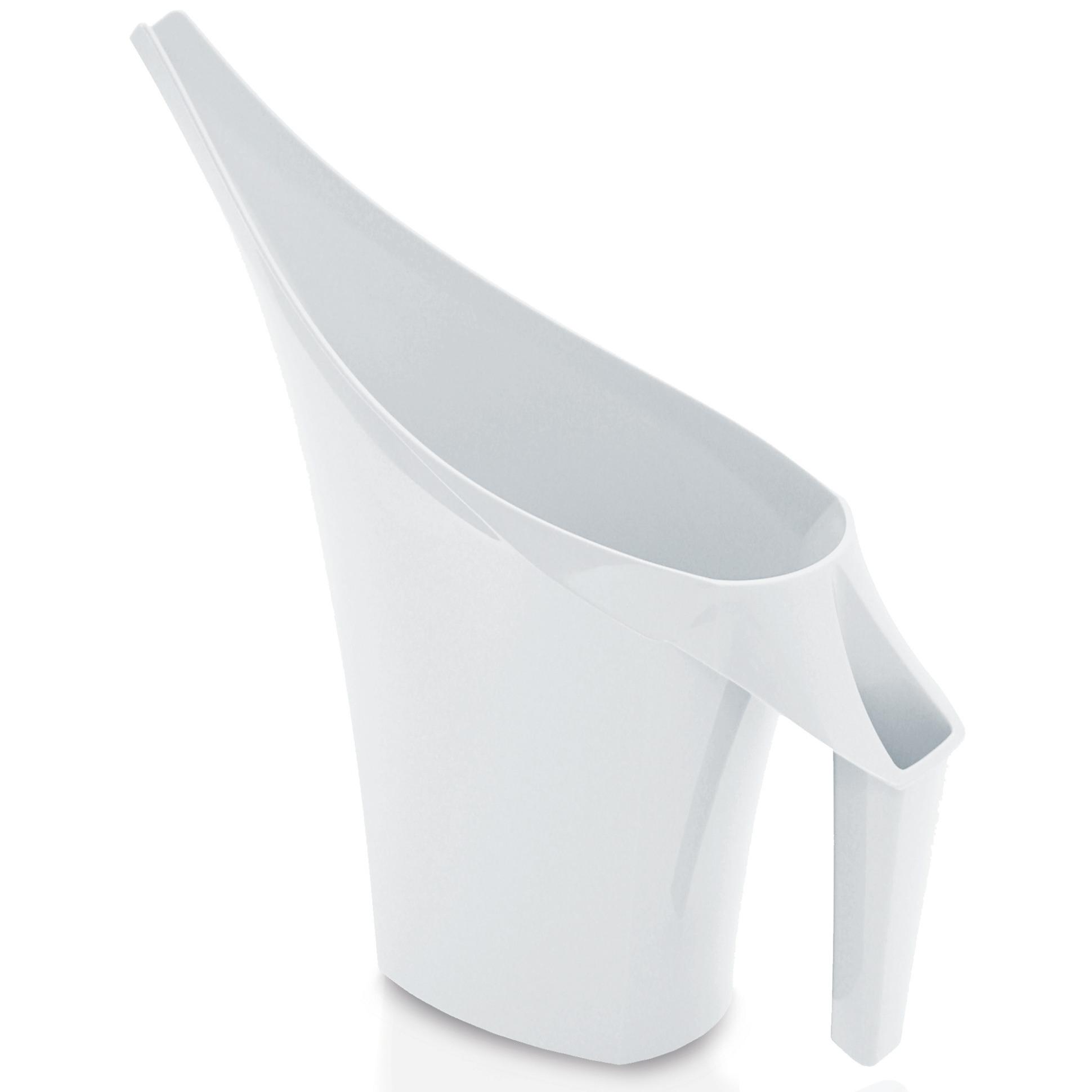 1x Stuks witte bloemen-planten gieters kunststof 2 liter