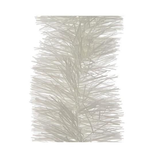 1x Winter witte kerstslingers 10 cm breed x 270 cm kerstversiering