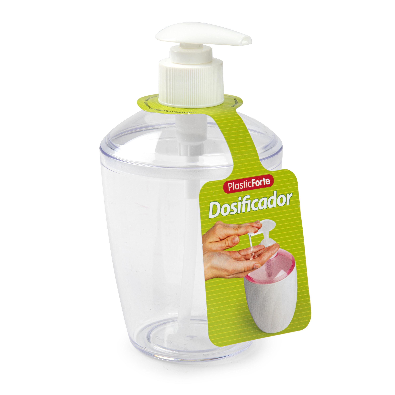 1x Zeep pompjes-dispensers transparant 400 ml