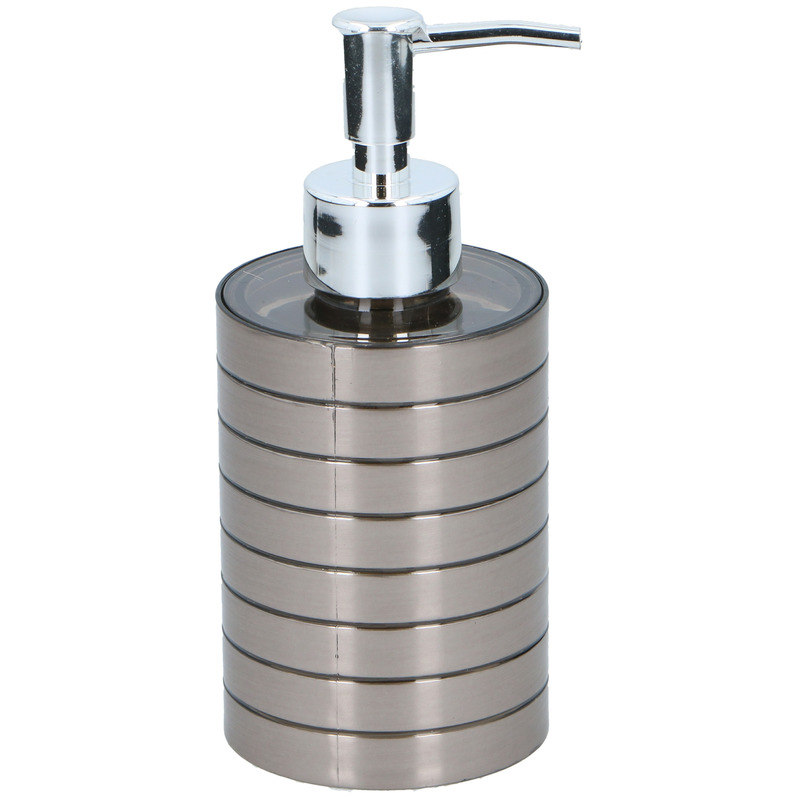 1x Zeeppompje-zeepdispenser 300 ml zilver