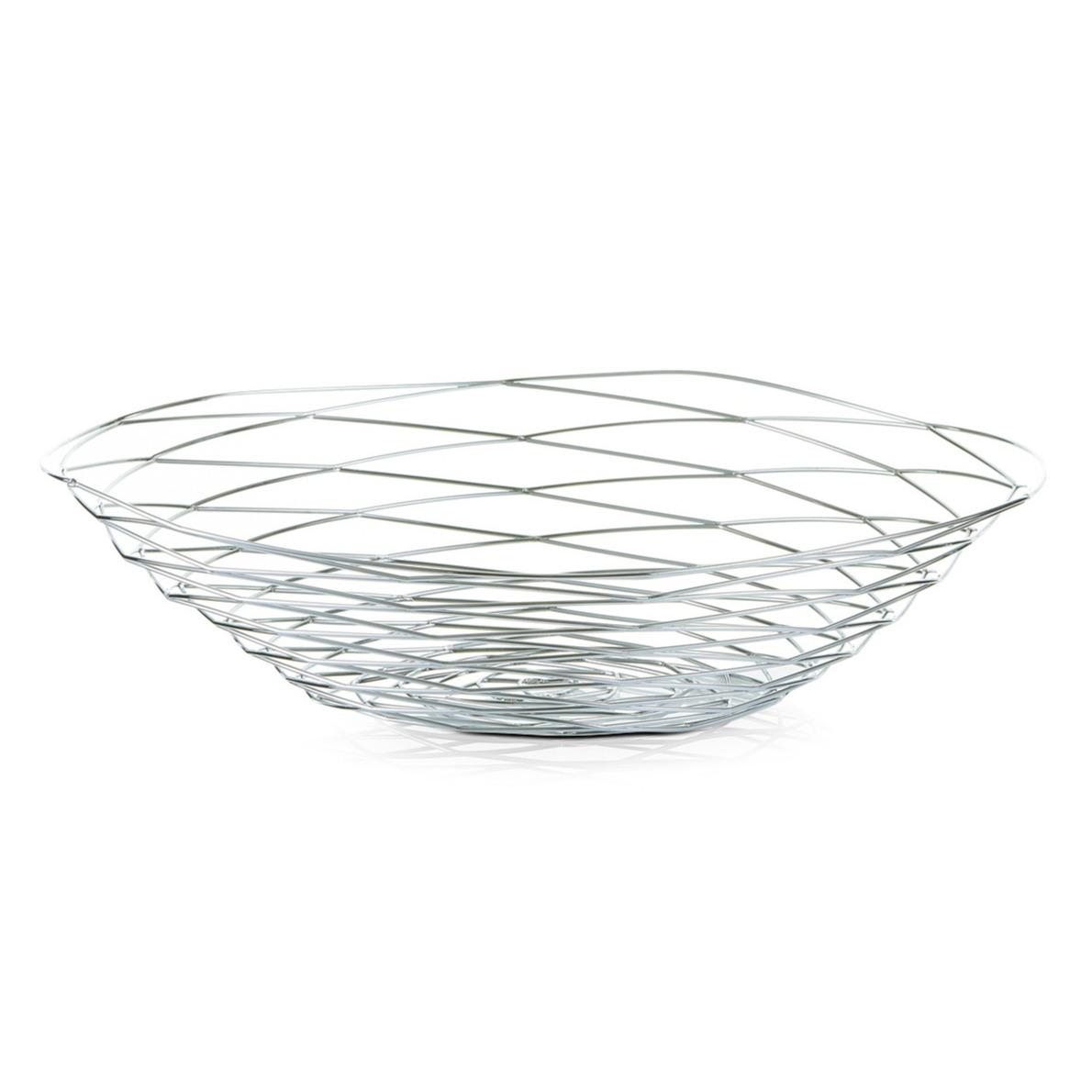 1x Zilveren ronde fruitschalen metaal 39 cm