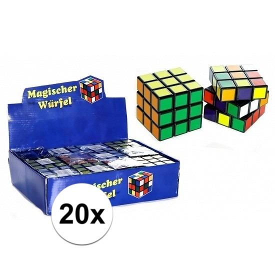 20x stuks voordelige kubus puzzels van 7 cm