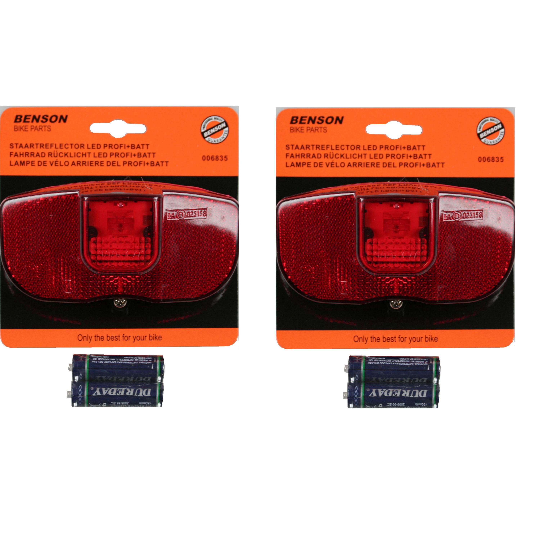 2x Fiets achterlichten-staartreflectoren fietsverlichting LED universeel