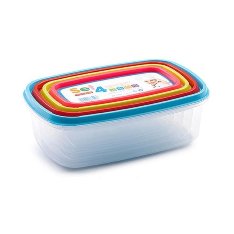 2x setje van 4x stuks voedsel opslagbakjes met deksel diverse formaten