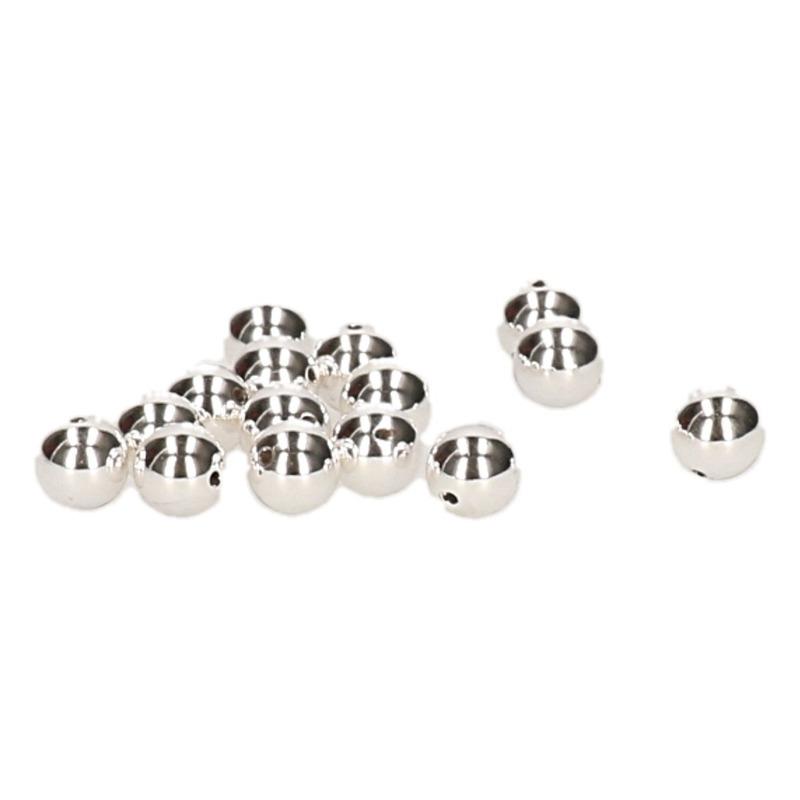30x Zilveren ronde kralen van 8 mm