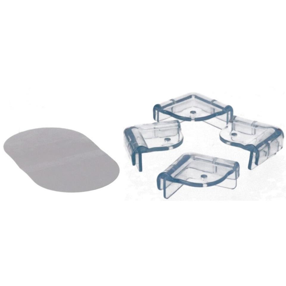 4x Veiligheids hoekbeschermer voor scherpe hoeken-tafels