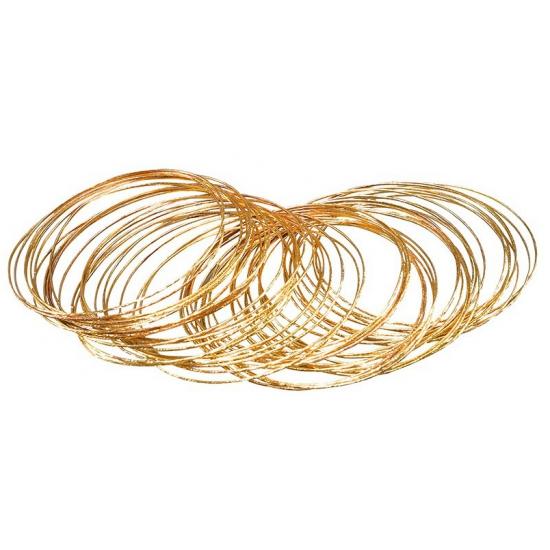 50x stuks gouden verkleed plastic armbanden