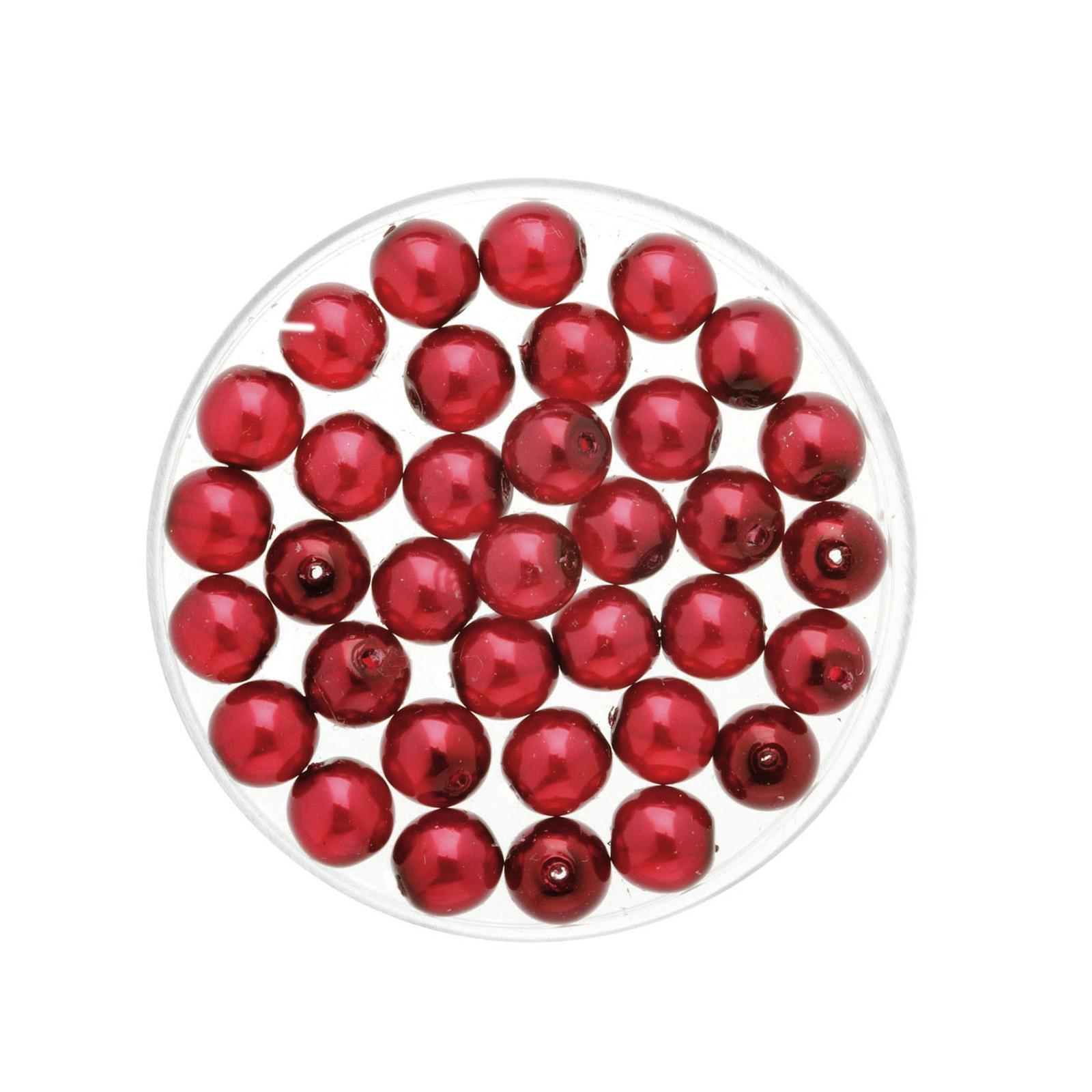 50x stuks sieraden maken Boheemse glaskralen in het transparant bordeaux rood van 6 mm