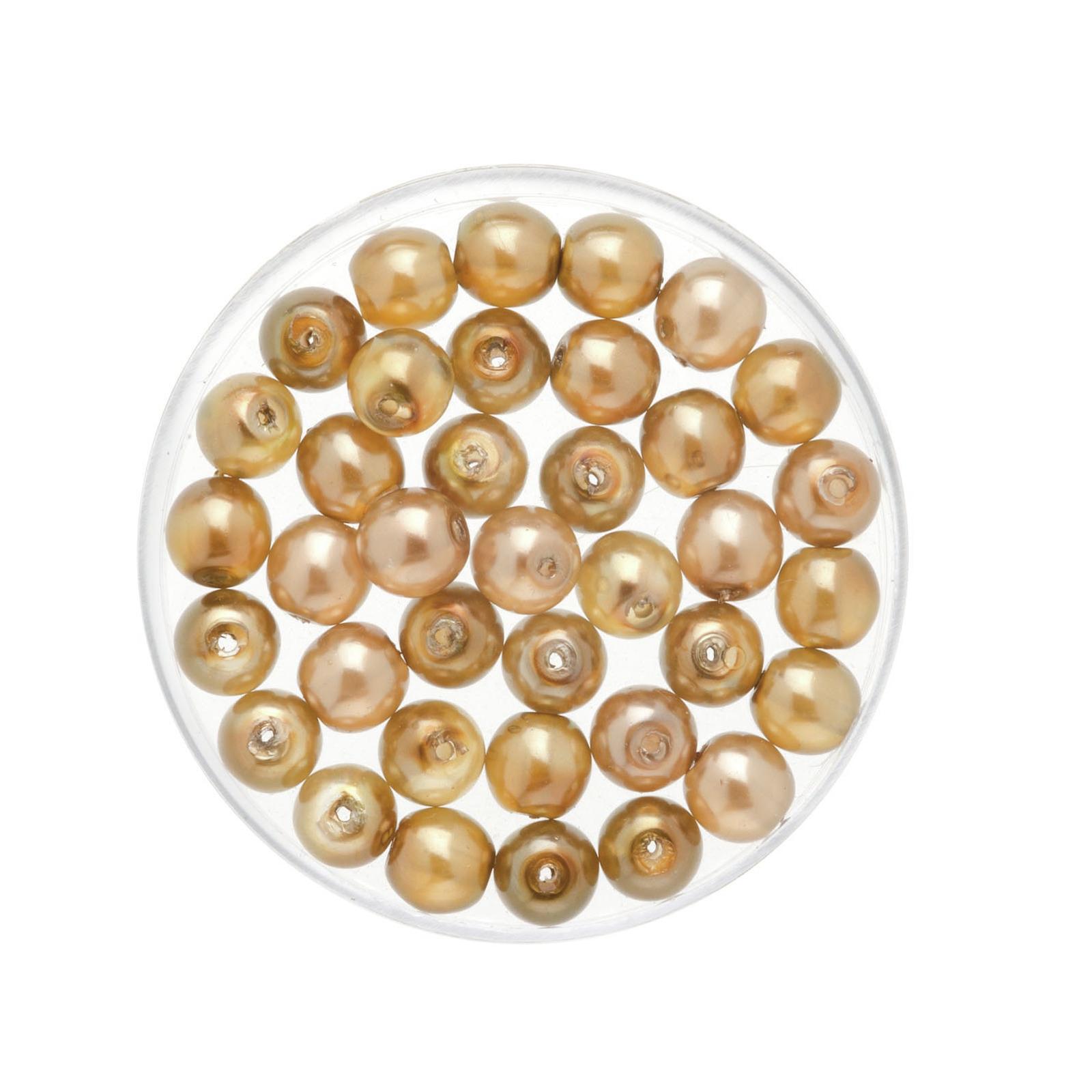 50x stuks sieraden maken Boheemse glaskralen in het transparant brons van 6 mm