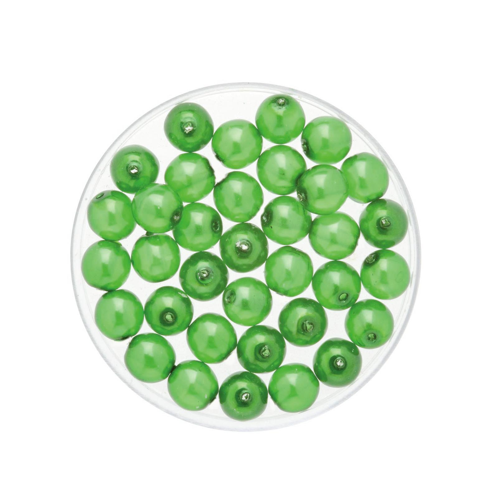 50x stuks sieraden maken Boheemse glaskralen in het transparant groen van 6 mm