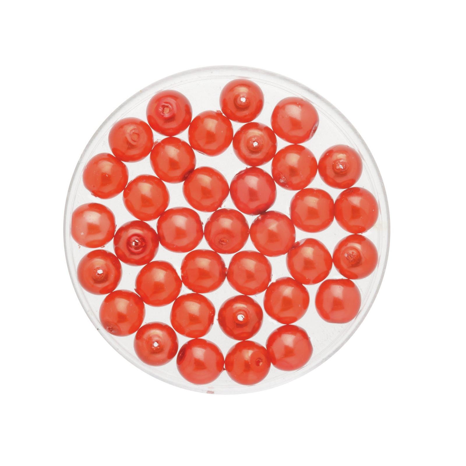 50x stuks sieraden maken Boheemse glaskralen in het transparant rood van 6 mm
