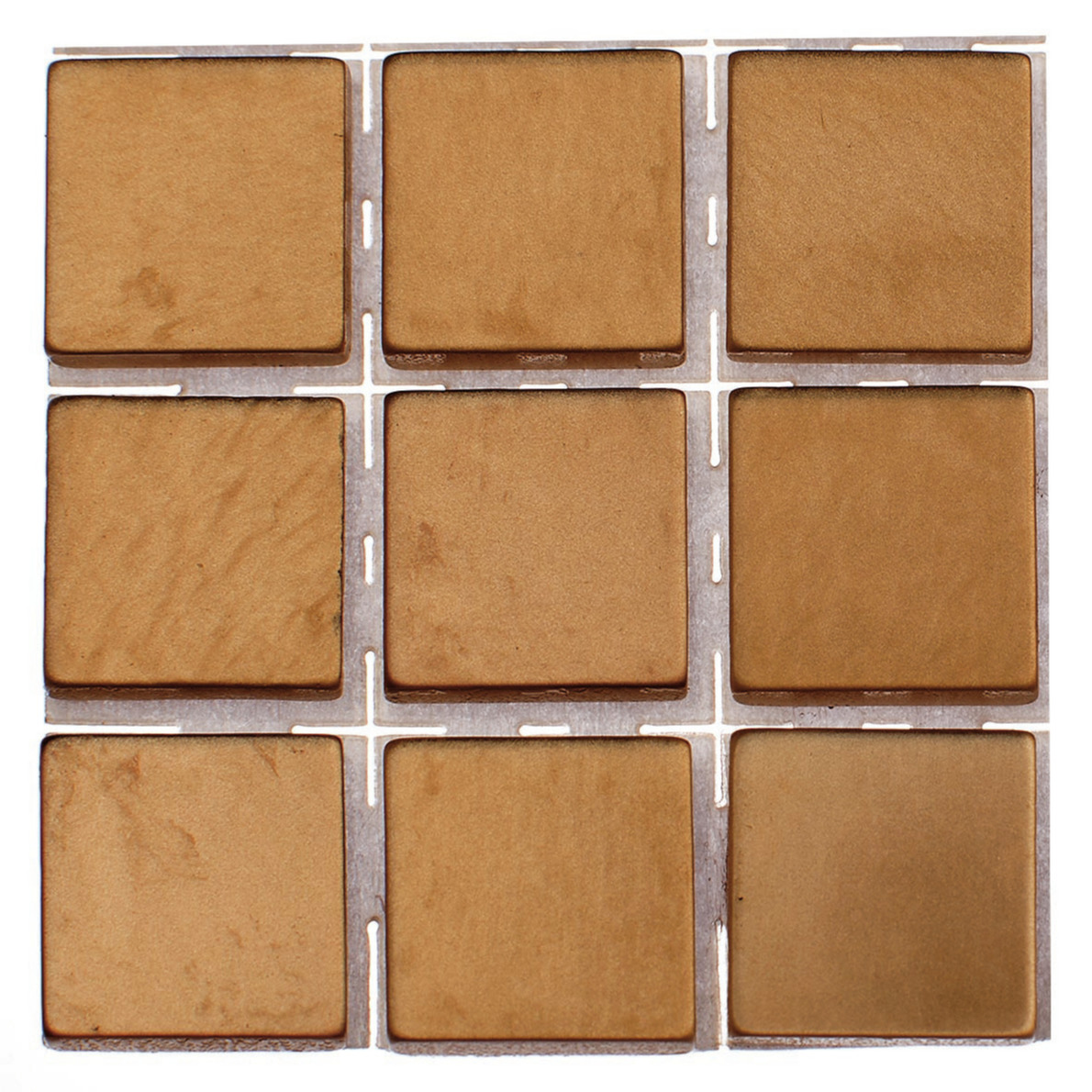 63x stuks mozaieken maken steentjes-tegels kleur brons 10 x 10 x 2 mm