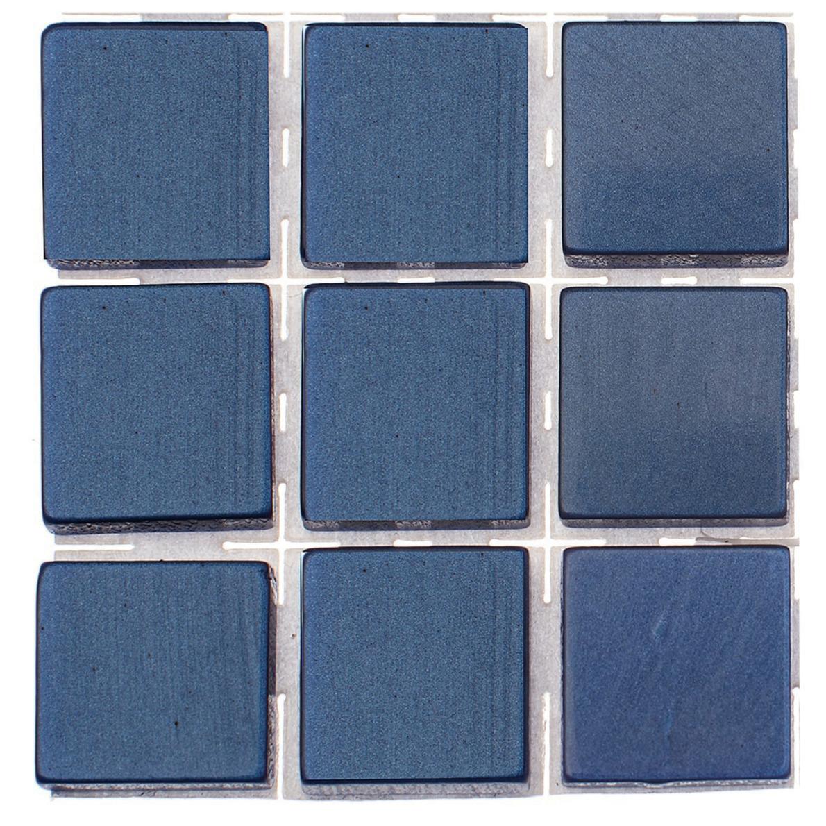 63x stuks mozaieken maken steentjes-tegels kleur donkerblauw 10 x 10 x 2 mm