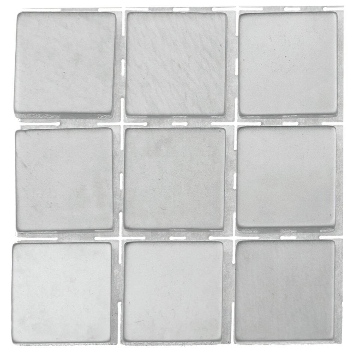 63x stuks mozaieken maken steentjes-tegels kleur grijs 10 x 10 x 2 mm