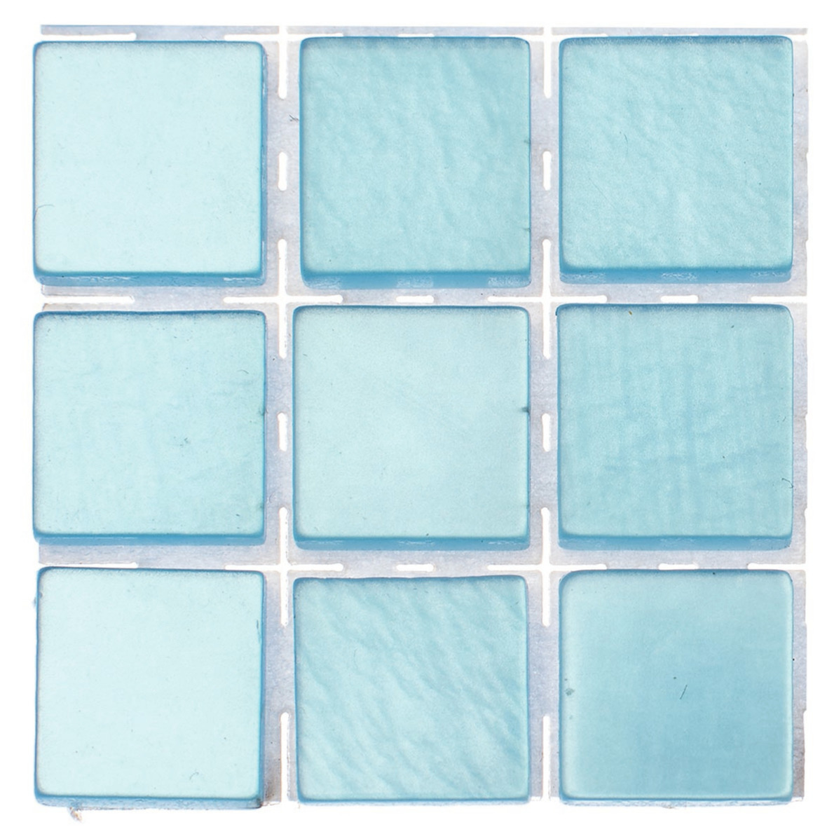 63x stuks mozaieken maken steentjes-tegels kleur lichtblauw 10 x 10 x 2 mm