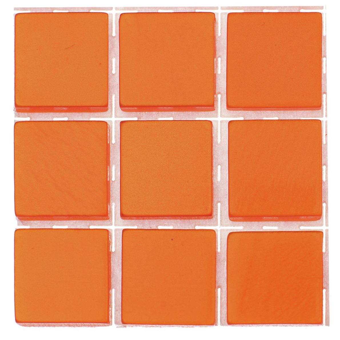 63x stuks mozaieken maken steentjes-tegels kleur oranje 10 x 10 x 2 mm