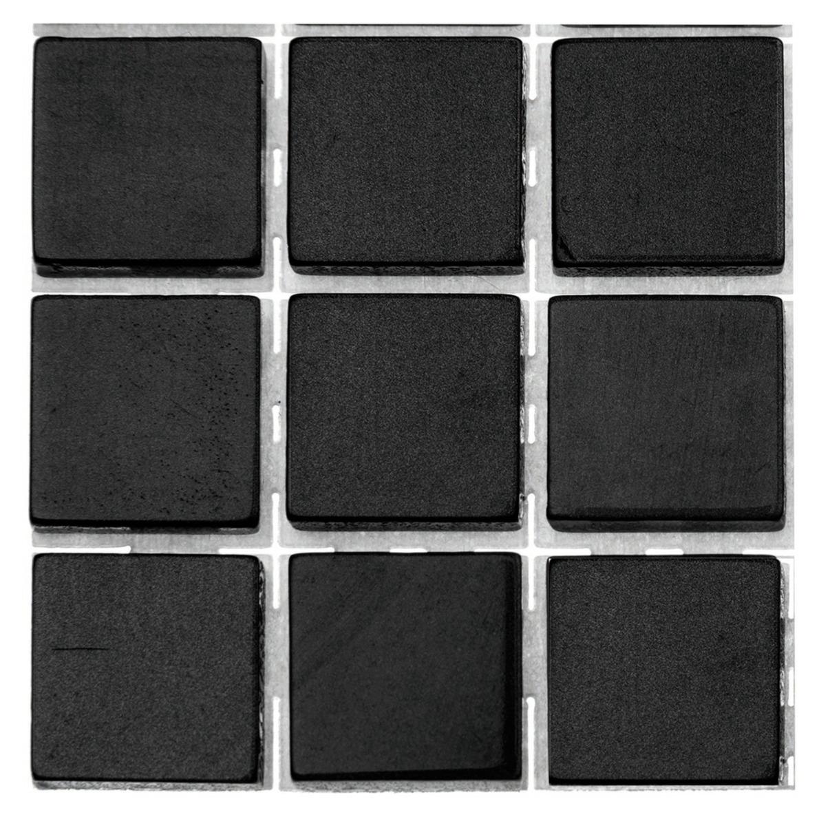 63x stuks mozaieken maken steentjes-tegels kleur zwart 10 x 10 x 2 mm